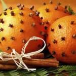 Αρωματικό χώρου με πορτοκάλι και γαρύφαλλα